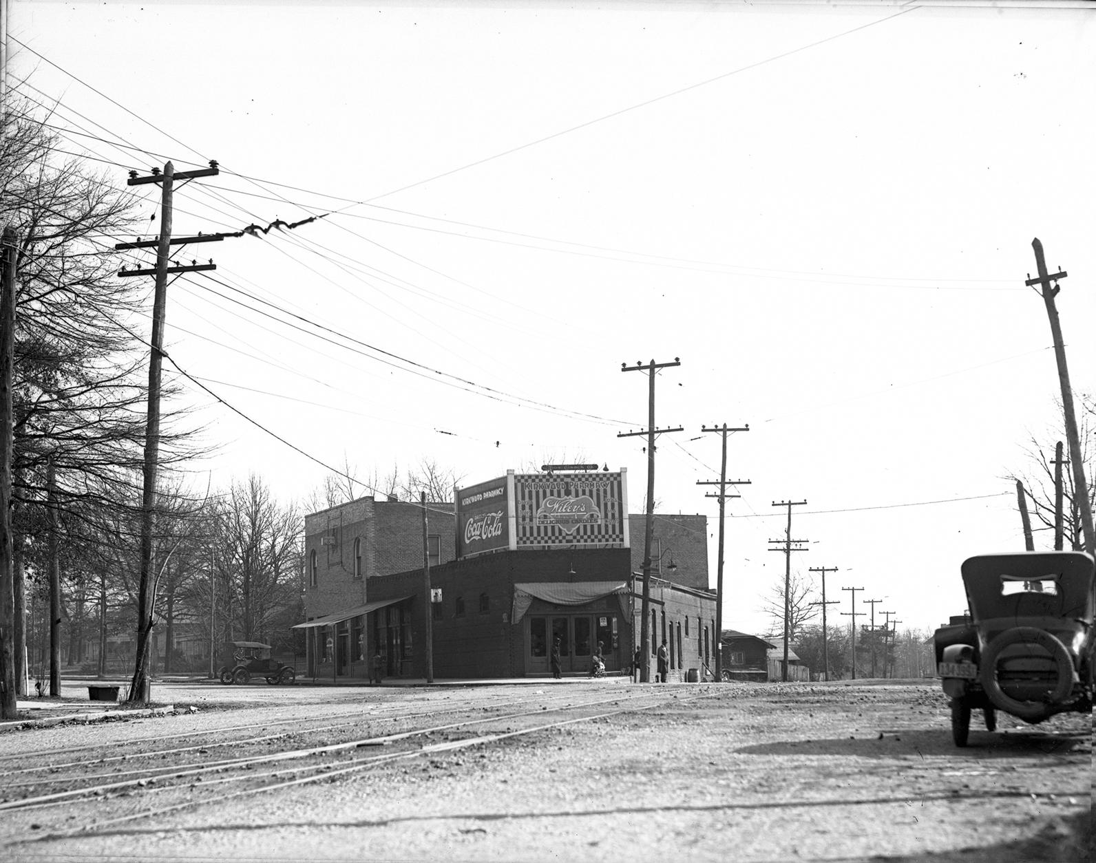 Kirkwood Pharmacy (1931) & Arden's Garden (2016)